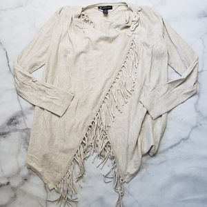 INC International Concepts fringe wrap sweater